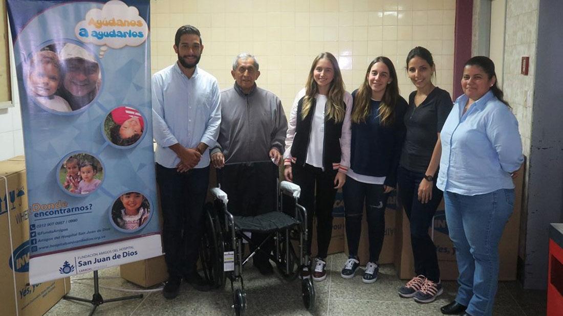 Fundación Yammine donó 10 sillas de ruedas al Hospital San Juan de Dios