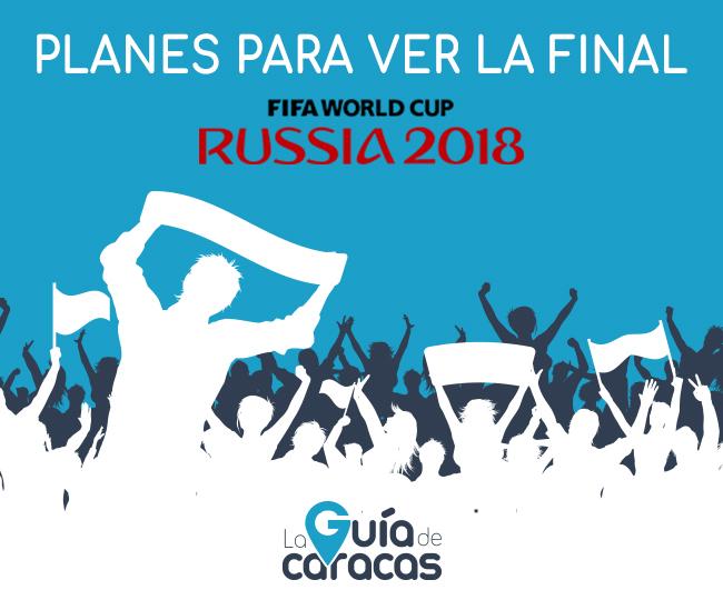 Planes para compartir la Final de la Copa Mundial FIFA 2018