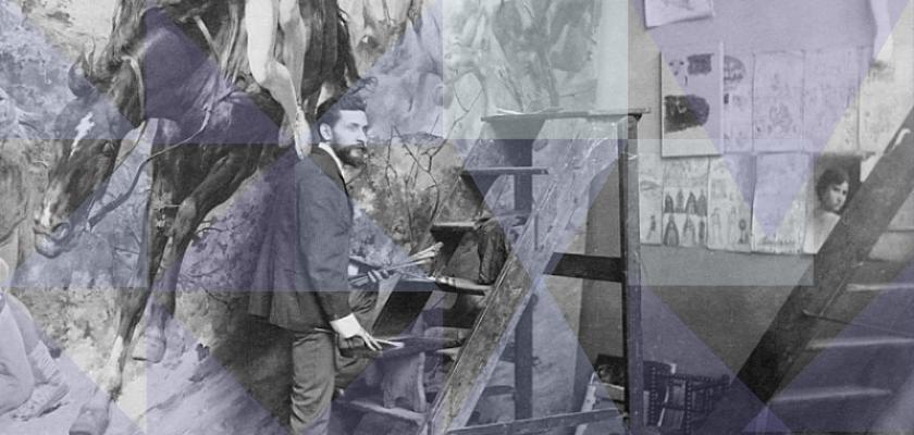 arturo michelena en su estudio en París